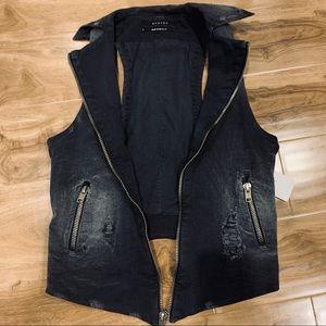 Hudson Jeans Distressed Denim Vest